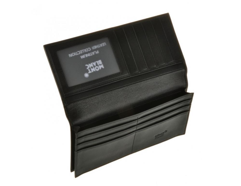 Мужской кожаный портмоне Montblanc 114535 чёрный - Фото № 6