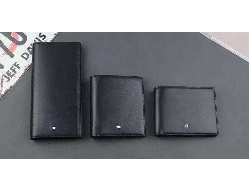 Мужской кожаный портмоне Montblanc 114535 чёрный - Фото № 3