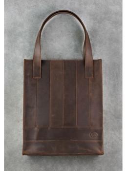Тёмно-коричневая женская сумка Шоппер Blanknote BN-BAG-10-o