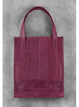 Женская кожаная сумка Blanknote bn-bag-10-vin виноградовая