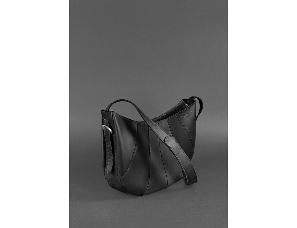 Чёрная полукруглая сумка женская Blancnote BN-BAG-12-G-KR - Фото № 3