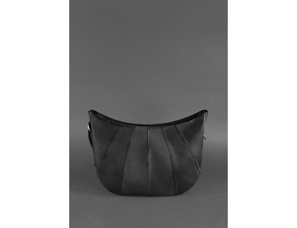 Чёрная полукруглая сумка женская Blancnote BN-BAG-12-G-KR - Фото № 5