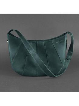 Зелёная кожаная сумка через плечо для женщин Blancnote BN-BAG-12-IZ