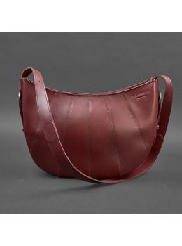 Бордовая кожаная сумка Blancnote BN-BAG-12-VIN