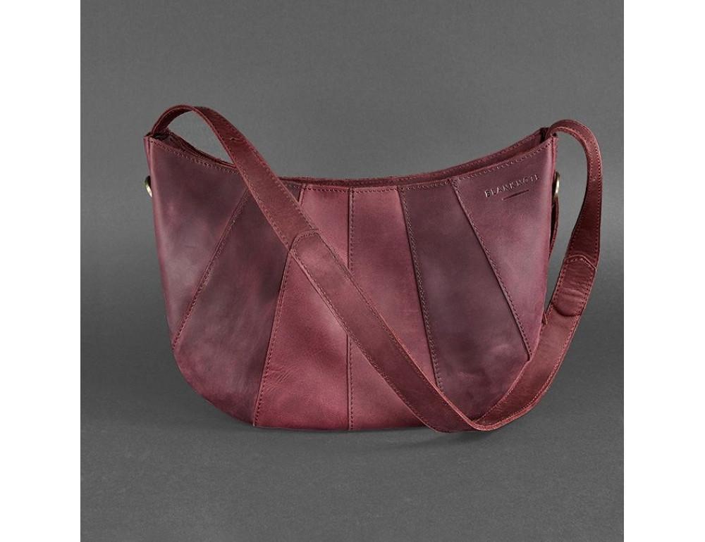 Бордова шкіряна сумка через плече жіноча Blacnote BN-BAG-12-VIN-KR - Фотографія № 1