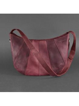 Бордовая кожаная сумка через плечо женская Blacnote BN-BAG-12-VIN-KR