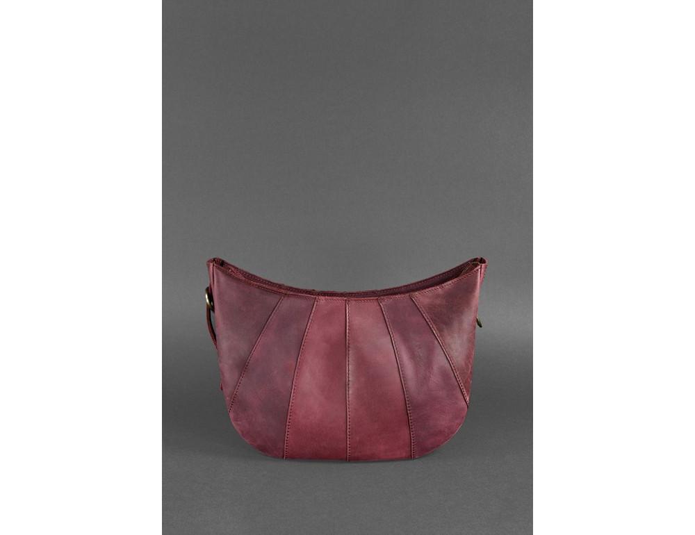 Бордова шкіряна сумка через плече жіноча Blacnote BN-BAG-12-VIN-KR - Фотографія № 4