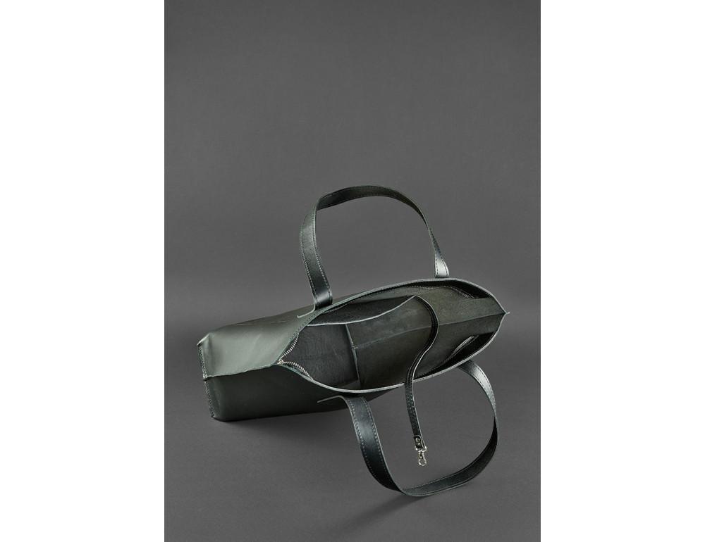 Вместительная женская сумка Шопер blanknote D.D. черный графит - Фото № 4