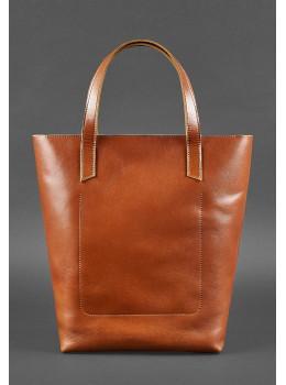 Вместительная женская сумка Шопер blanknote D.D. коньяк
