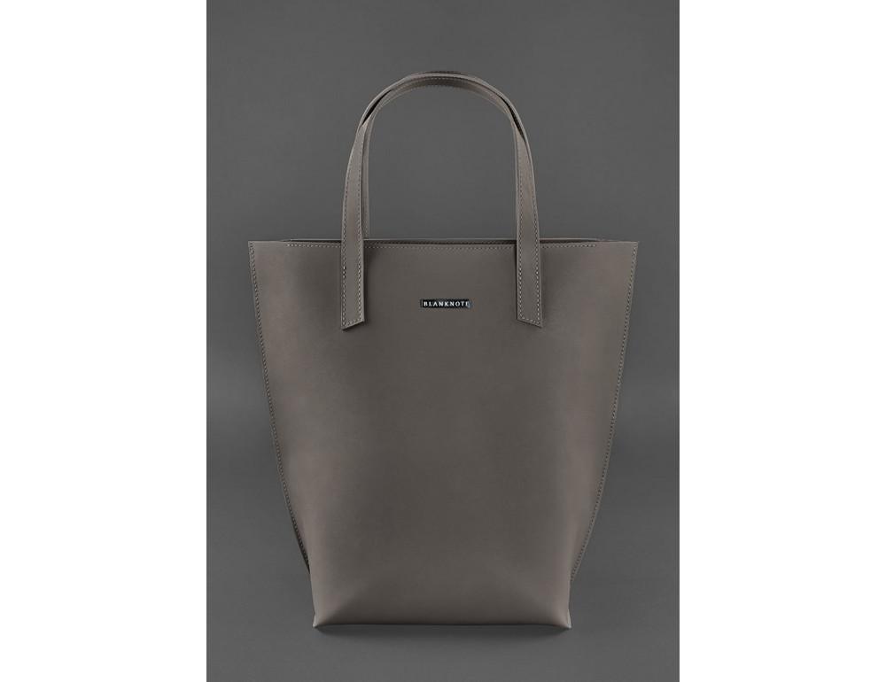 Тёмно-бежевая кожаная сумка шоппер Blancnote BN-BAG-17-BEIGE - Фото № 1