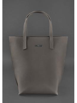 Тёмно-бежевая кожаная сумка шоппер Blancnote BN-BAG-17-BEIGE