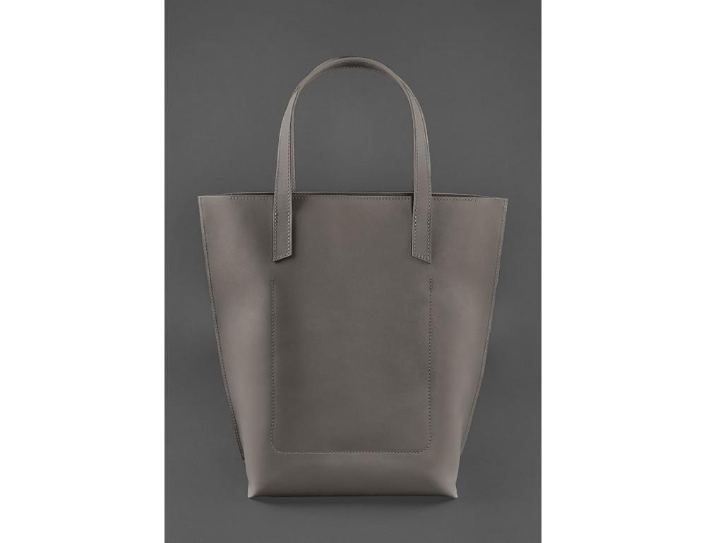 Тёмно-бежевая кожаная сумка шоппер Blancnote BN-BAG-17-BEIGE - Фото № 4
