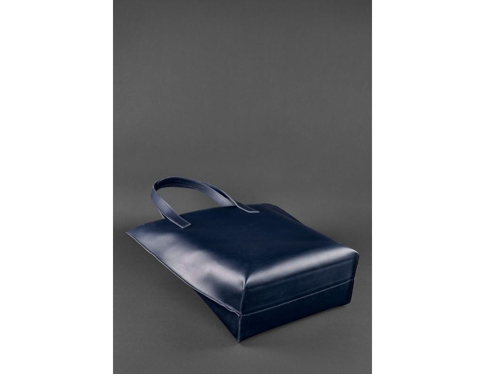 Темно-синя велика шкіряна сумка жіноча BN-BAG-17-NAVY-BLUE - Фотографія № 5