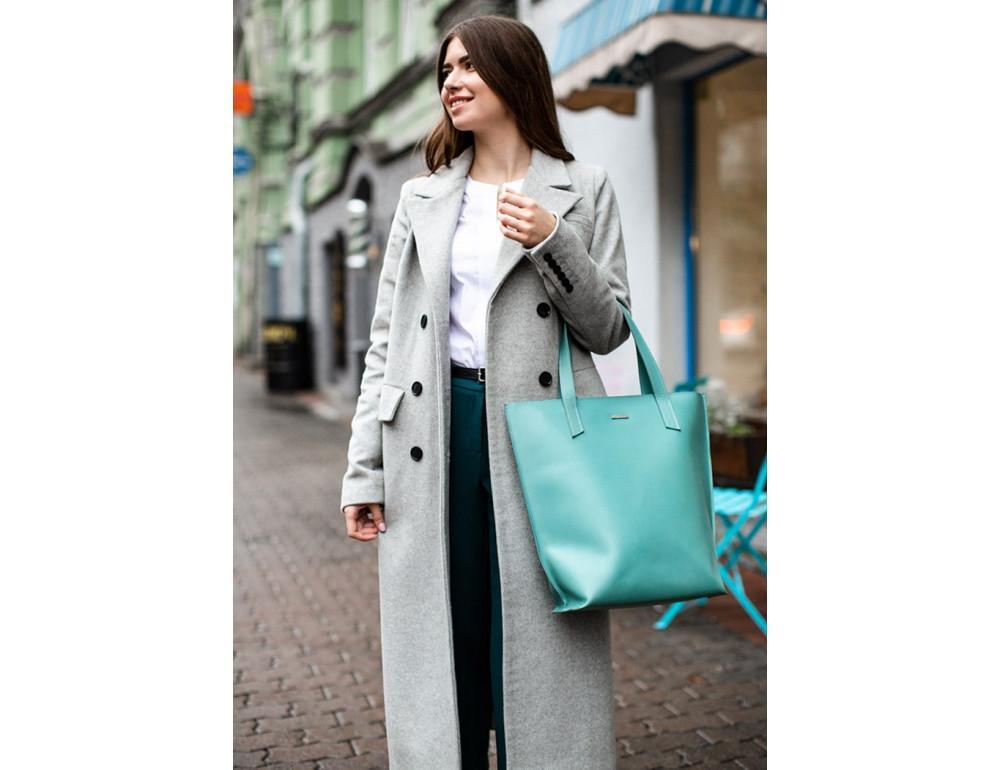 Містка жіноча сумка Шопер blanknote BN-BAG-17-tiffany тиффани - Фотографія № 2
