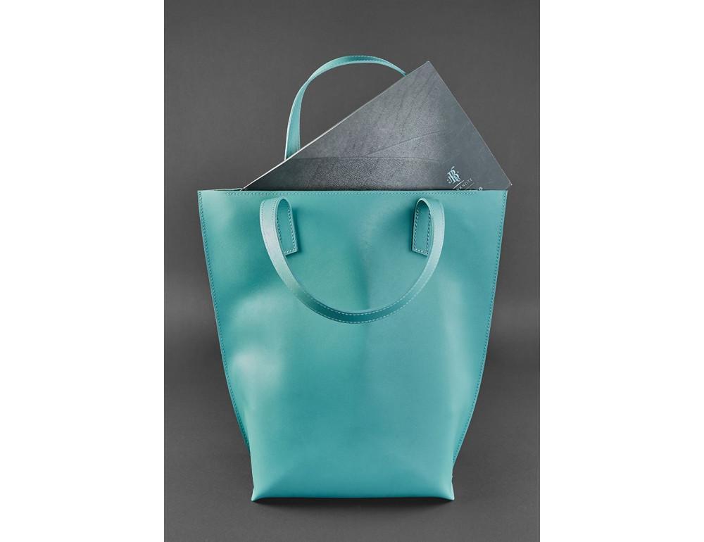 Містка жіноча сумка Шопер blanknote BN-BAG-17-tiffany тиффани - Фотографія № 4