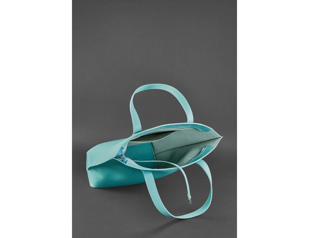 Містка жіноча сумка Шопер blanknote BN-BAG-17-tiffany тиффани - Фотографія № 6