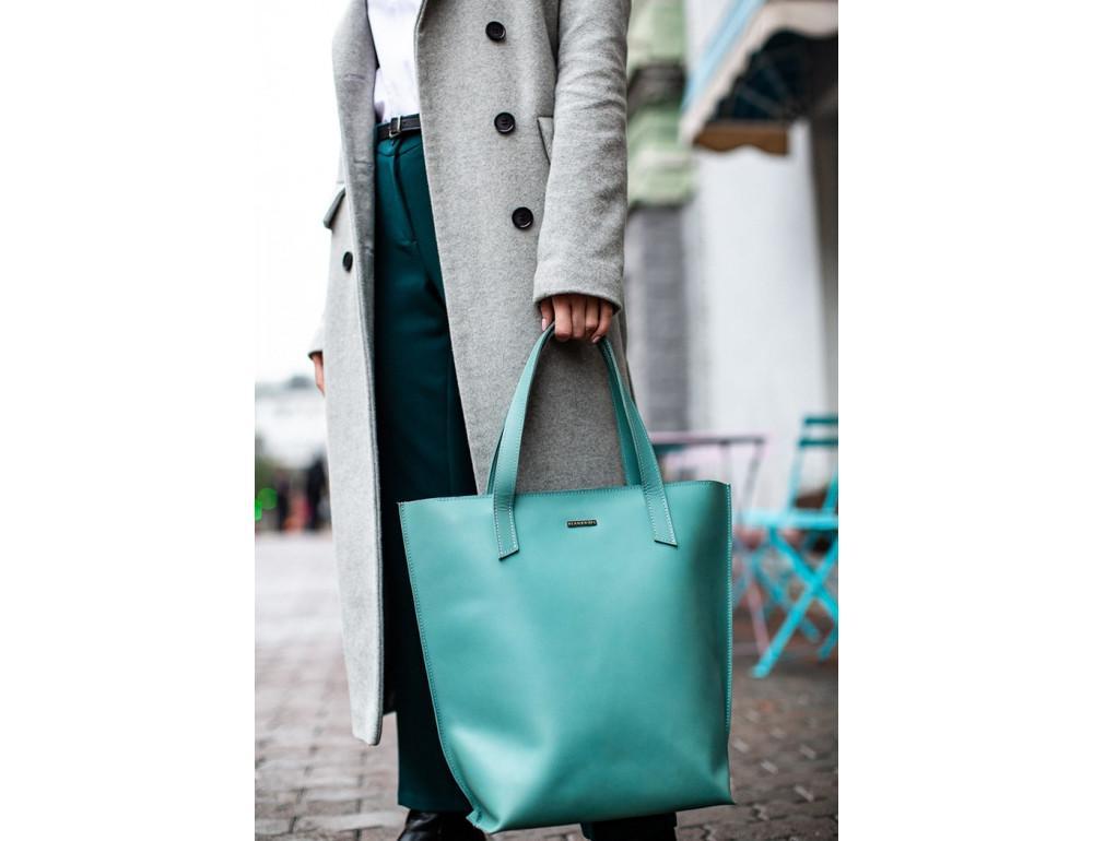 Містка жіноча сумка Шопер blanknote BN-BAG-17-tiffany тиффани - Фотографія № 7