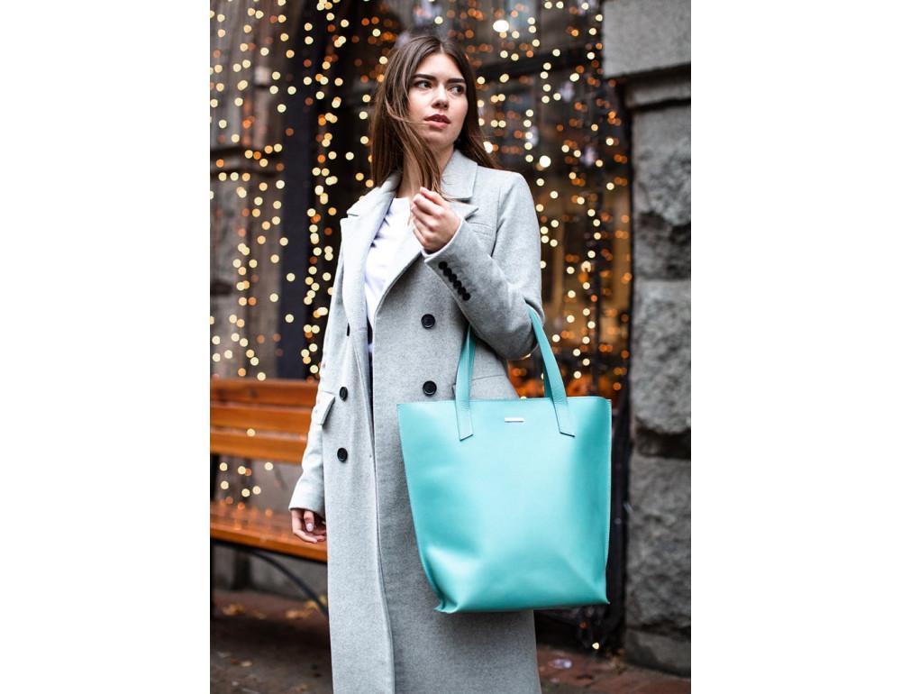 Містка жіноча сумка Шопер blanknote BN-BAG-17-tiffany тиффани - Фотографія № 8