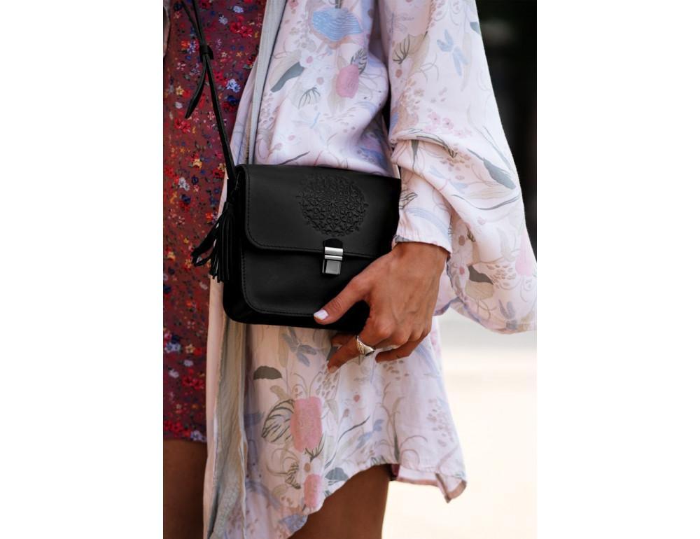 Жіночий кроссбоді Blanknote bn-bag-3-g-man графітовий - Фотографія № 2