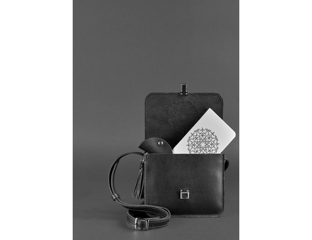 Жіночий кроссбоді Blanknote bn-bag-3-g-man графітовий - Фотографія № 3