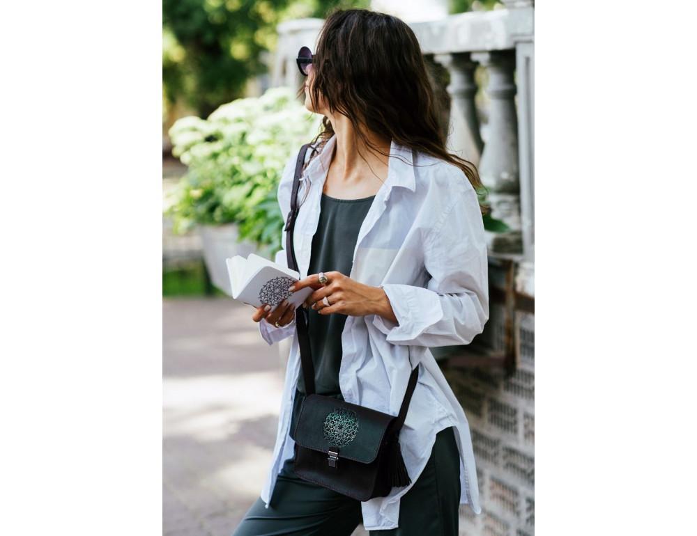 Жіночий кроссбоді Blanknote bn-bag-3-g-man графітовий - Фотографія № 6