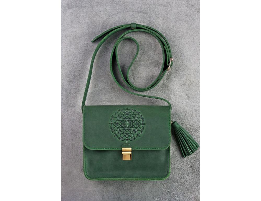 Изумрудовая сумка через плечо Blanknote BN-BAG-3-iz-man - Фото № 1