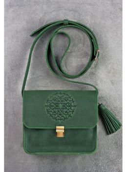 Изумрудовая сумка через плечо Blanknote BN-BAG-3-iz-man