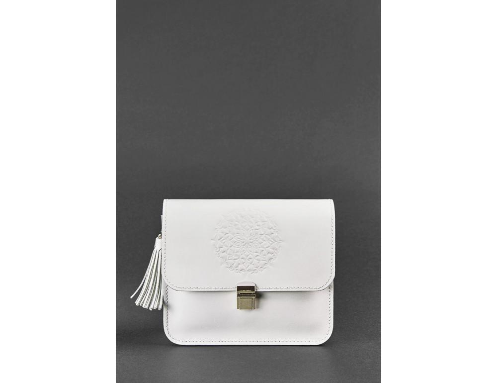 Белая кожаная маленькая сумочка Blancnote BN-BAG-3-LIGHT - Фото № 1