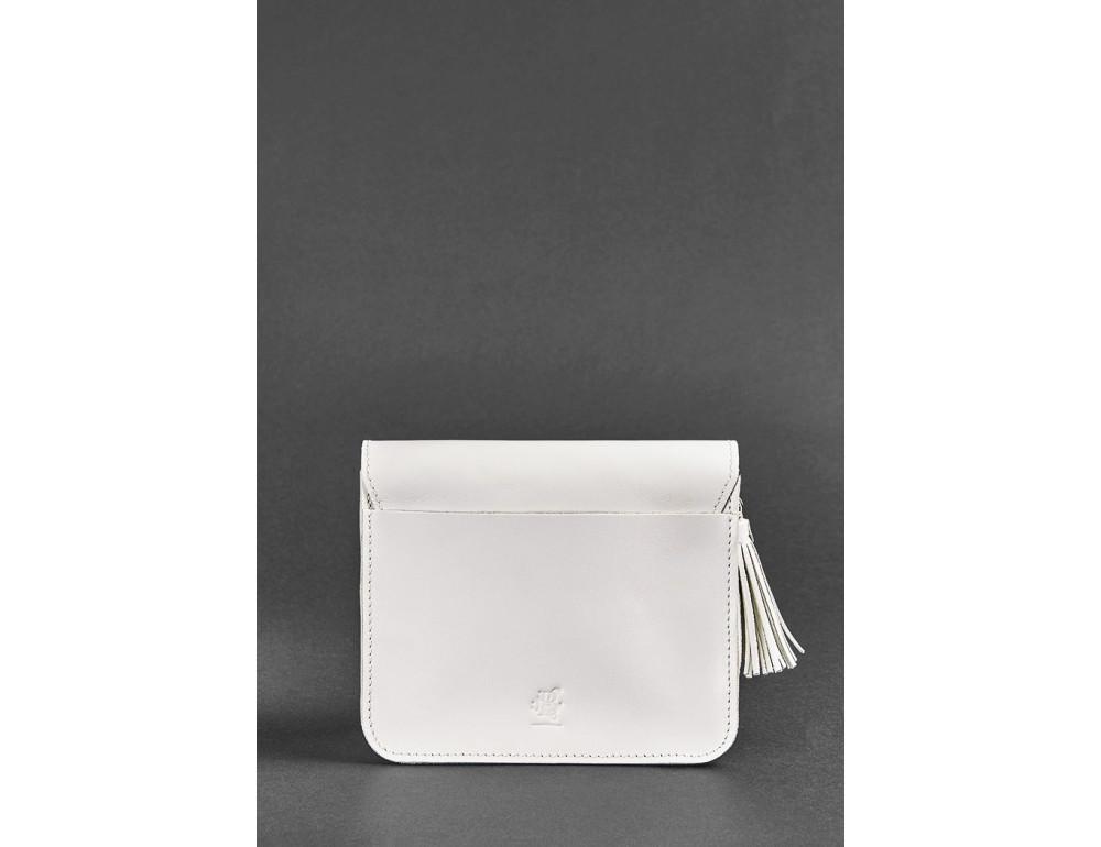 Белая кожаная маленькая сумочка Blancnote BN-BAG-3-LIGHT - Фото № 4
