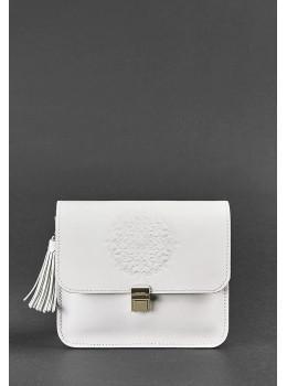 Белая кожаная маленькая сумочка Blancnote BN-BAG-3-LIGHT