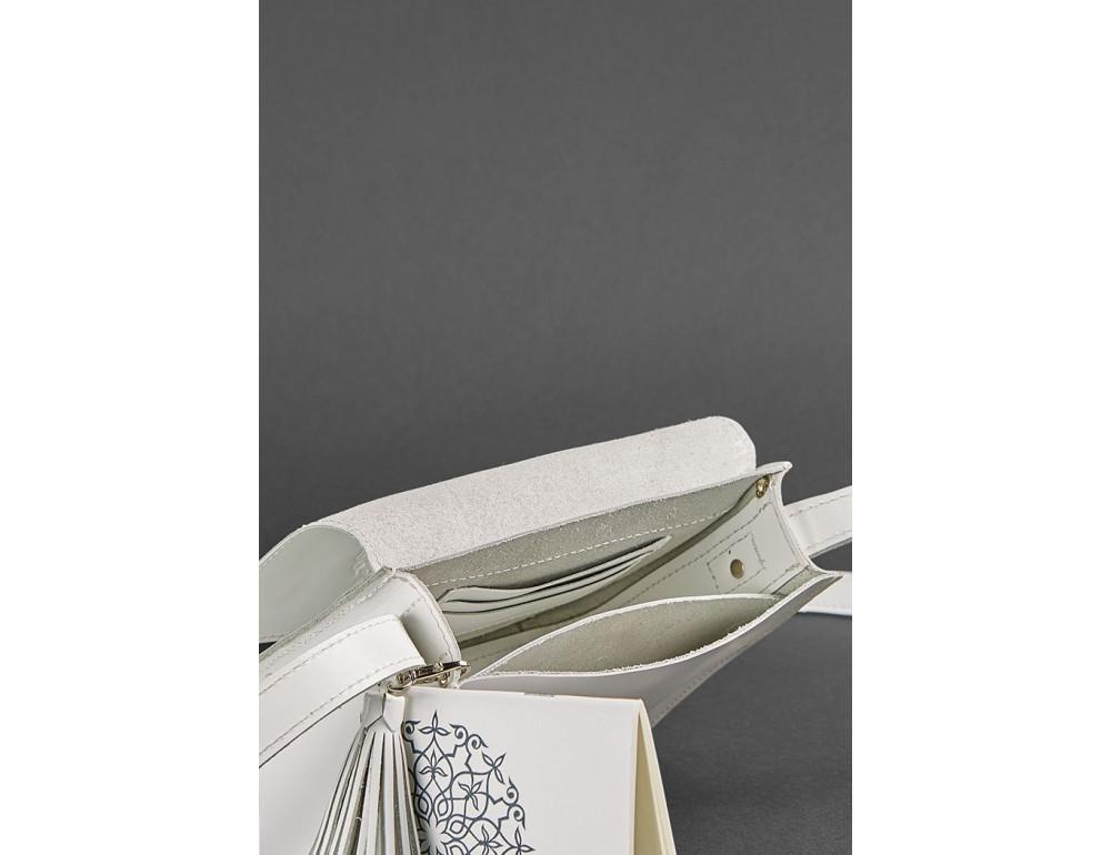 Белая кожаная маленькая сумочка Blancnote BN-BAG-3-LIGHT - Фото № 3