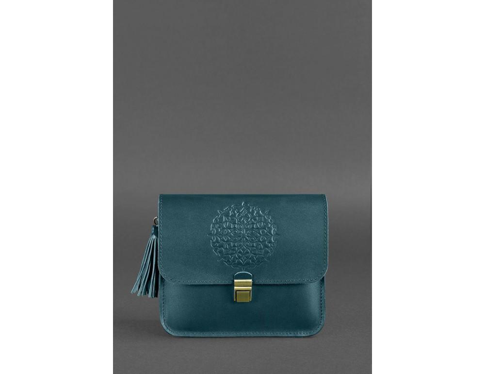 Зелёная кожаная сумочка через плечо Blancnote BN-BAG-3-malachite - Фото № 1