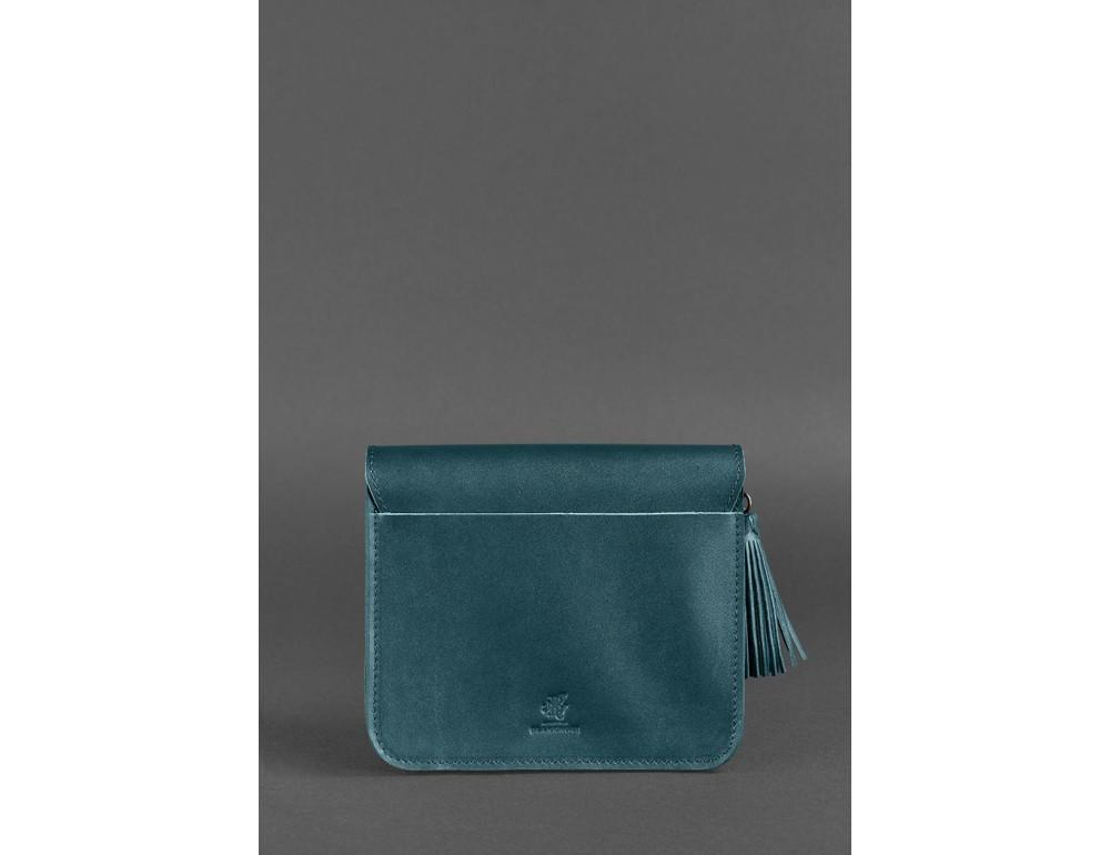 Зелёная кожаная сумочка через плечо Blancnote BN-BAG-3-malachite - Фото № 4