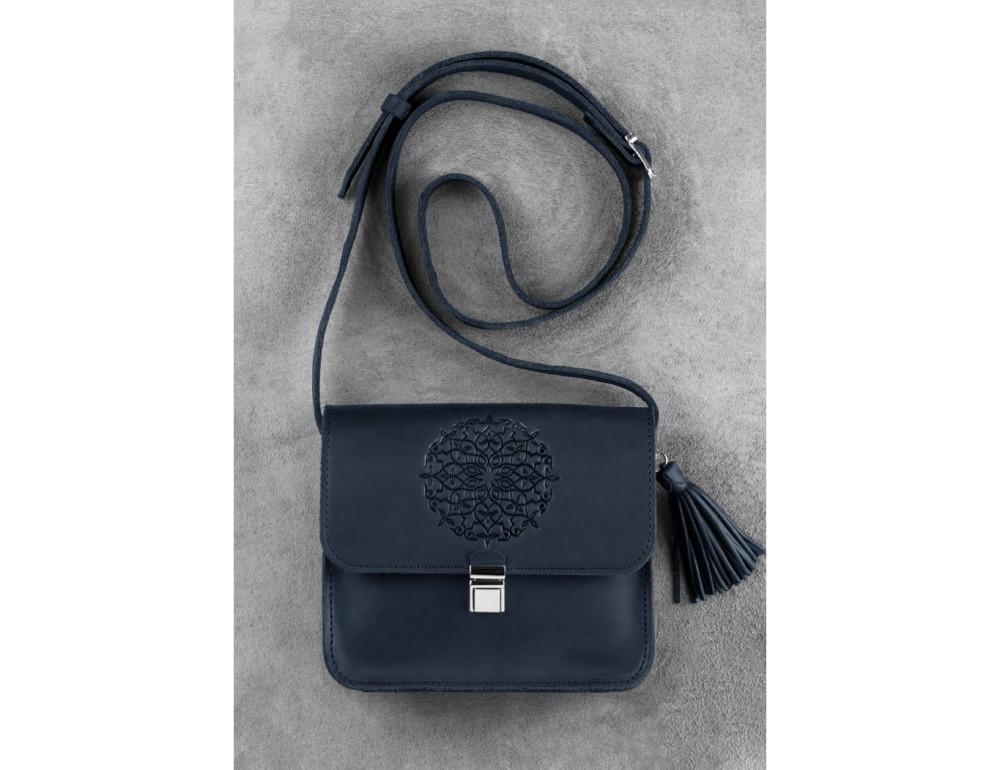 Шкіряна сумка через плече Blanknote bn-bag-3-nn-man - Фотографія № 1