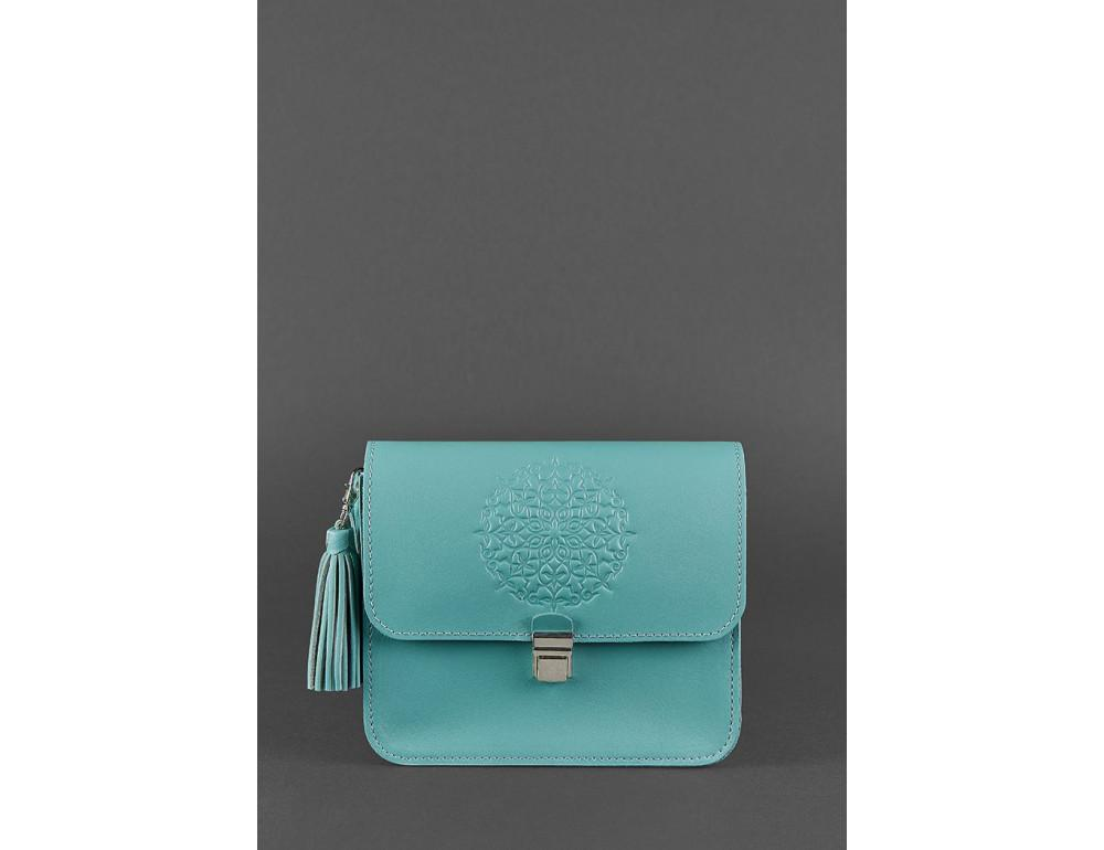 Бирюзовая кожаная сумочка Blanknote BN-BAG-3-tiffany - Фото № 1