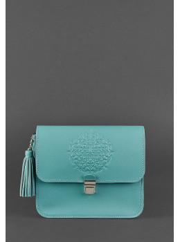 Бирюзовая кожаная сумочка Blanknote BN-BAG-3-tiffany