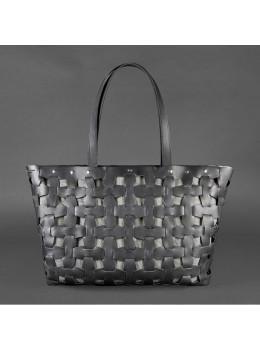 Чёрная кожаная сумка огромная Blancnote BN-BAG-34-G