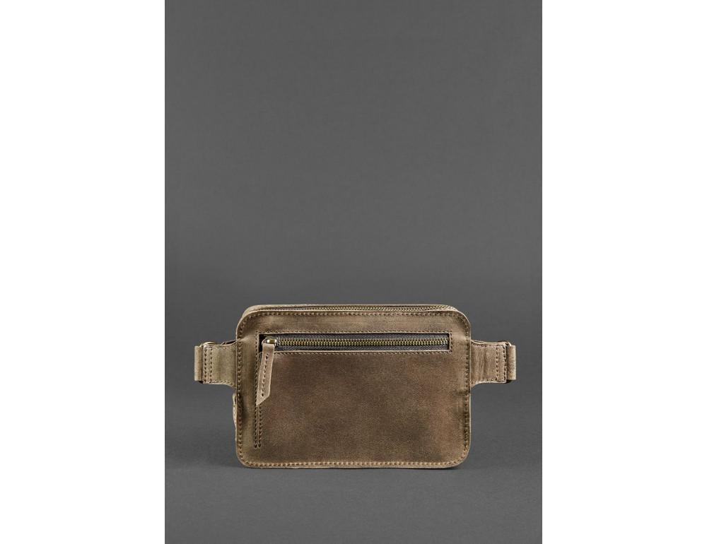 Коричнева ожаная сумка на пояс Blanknote BN-BAG-6-O - Фотографія № 5