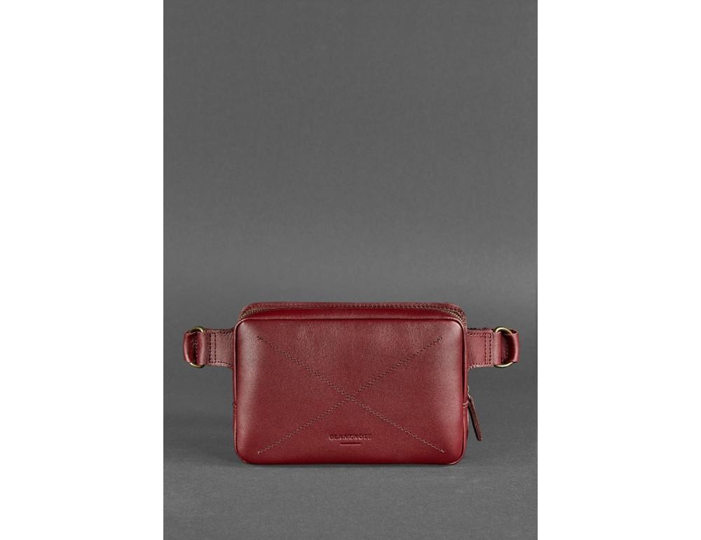 Шкіряна сумка на пояс Blanknote BN-BAG-6-VIN-KR - Фотографія № 3