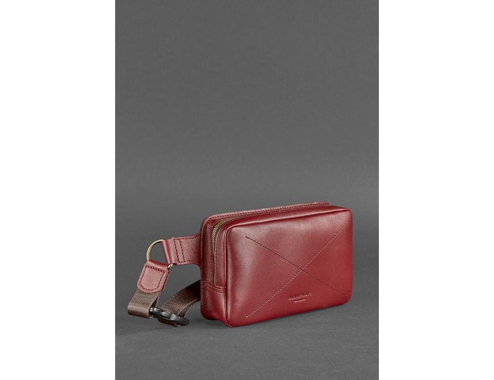 Шкіряна сумка на пояс Blanknote BN-BAG-6-VIN-KR - Фотографія № 4