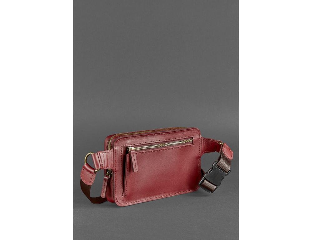 Шкіряна сумка на пояс Blanknote BN-BAG-6-VIN-KR - Фотографія № 8