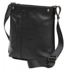 Чорна шкіряна сумка месенджер Black Diamonnd BD103A