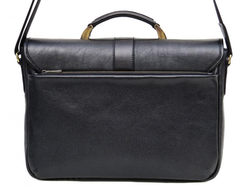 Мужской кожаный портфель black diamond bd19a чёрный - Фото № 2