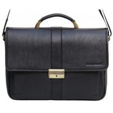 Мужской кожаный портфель black diamond bd19a чёрный