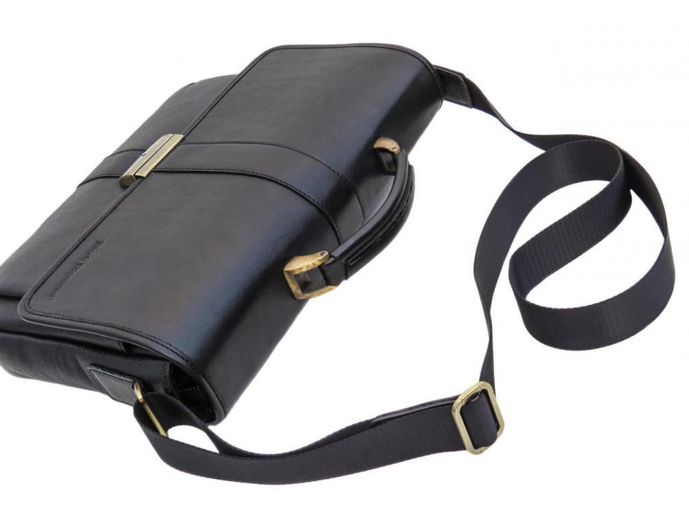 Мужской кожаный портфель black diamond bd19a чёрный - Фото № 5