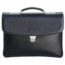 Чоловічий шкіряний портфель Black Diamond BD21A чорний