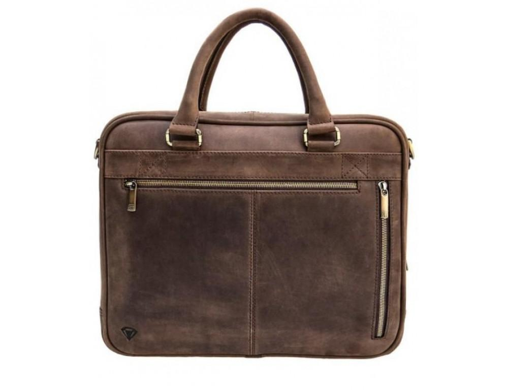 Мужской кожаный портфель Black Diamond BD2Ccrh коричневый - Фото № 1