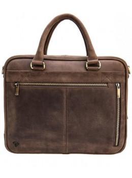Мужской кожаный портфель Black Diamond BD2Ccrh коричневый