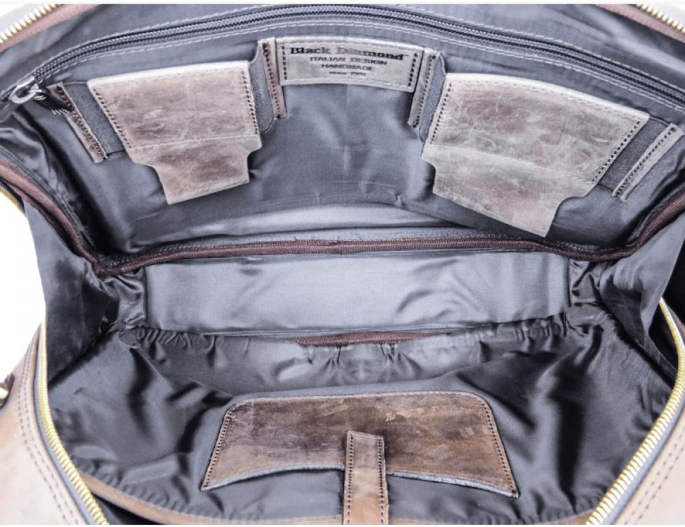 Мужской кожаный портфель Black Diamond BD2Ccrh коричневый - Фото № 2