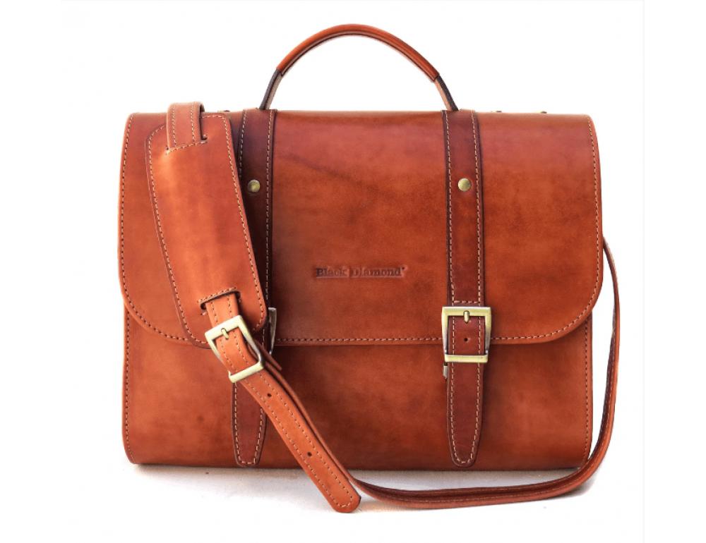 Стильный портфель из необычной коричневой кожи Black Diamond BD33Ckrast